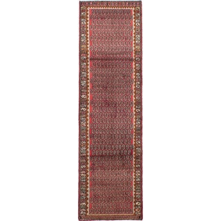 ecarpetgallery Hand-knotted Persian Roodbar Red Wool Rug (2'8 x 9'5)