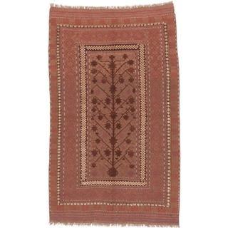 ecarpetgallery Hand-knotted Tajik Caucasian Brown and Orange Wool Rug (5'5 x 8'11)
