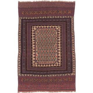 ecarpetgallery Hand-knotted Tajik Caucasian Red and Yellow Wool Rug (5'8 x 9')
