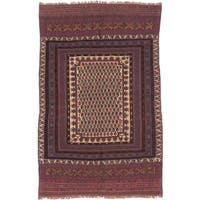ecarpetgallery Hand-knotted Tajik Caucasian Red and Yellow Wool Rug (5'8 x 9') - 5'8 x 9'