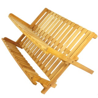 17 Inch Medium Size All Natural Eco-Friendly Bamboo Dish Rack