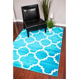 Persian Rugs Moroccan Trellis Abstract Rug (7'10 x 10'6)