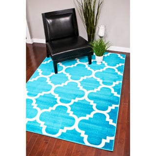 "Persian Rugs Moroccan Trellis Abstract Rug (7'10"" x 10'6"")"
