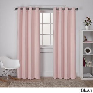 Copper Grove Fulgence Sateen Twill Weave Insulated Blackout Window Curtain Panel Pair (84 Inches - Blush)