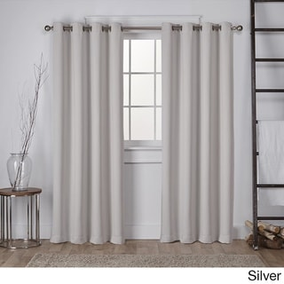 Copper Grove Fulgence Sateen Twill Weave Insulated Blackout Window Curtain Panel Pair (63 Inches - Silver)