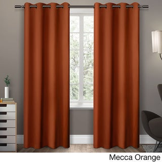 Copper Grove Fulgence Sateen Twill Weave Insulated Blackout Window Curtain Panel Pair (84 Inches - Orange)