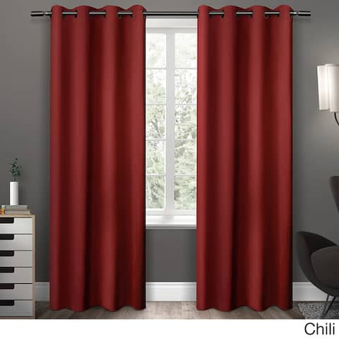 Copper Grove Fulgence Sateen Twill Weave Insulated Blackout Window Curtain Panel Pair