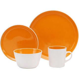 Oneida Chili Mango Colorburst Dinnerware 32-piece Set (Service for 8)