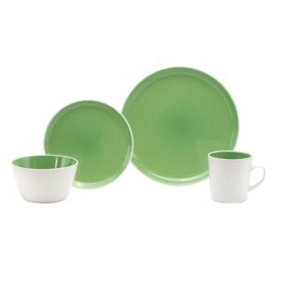 Oneida Kiwi Green Colorburst Dinnerware 32-piece Set (Service for 8)