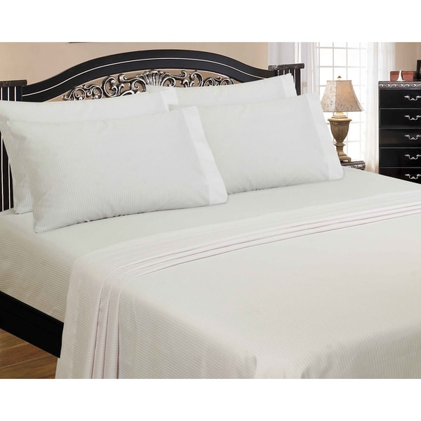 Classic Luxury 300 Thread Count Candy Stripe Sheet Set with Bonus Pillowcase