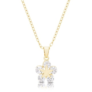 Dolce Giavonna Gold or Silvertone Cubic Zirconia Star Necklace