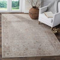 Safavieh Valencia Grey/ Multi Overdyed Distressed Silky Polyester Rug - 8' x 10'