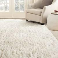 Safavieh Handmade Arctic Shag White Polyester Rug - 10' x 14'