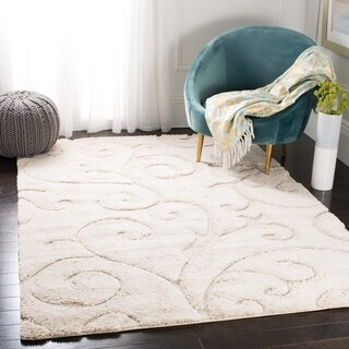 Safavieh Florida Shag Scrollwork Elegance Cream Area Rug (8' x 10')