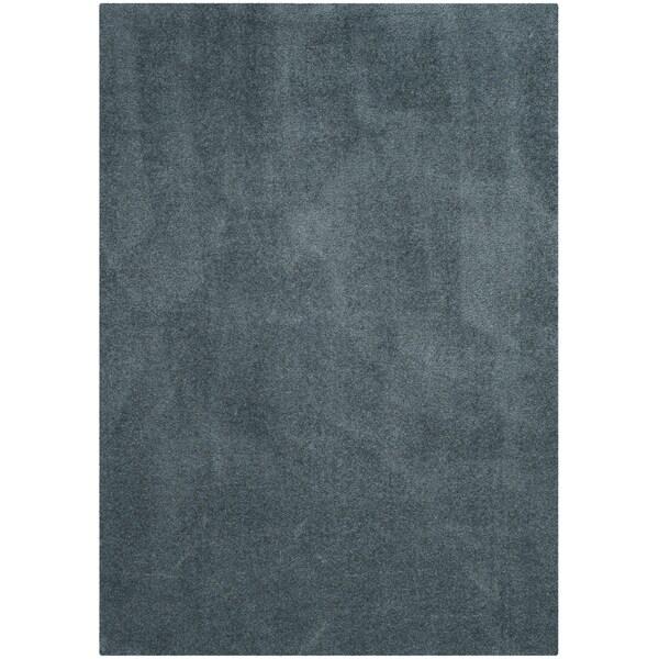 Safavieh Velvet Shag Light Blue Polyester Rug - 8' x 10'
