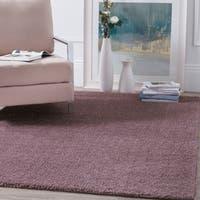 Safavieh Velvet Shag Violet Polyester Rug - 6'7 x 9'2