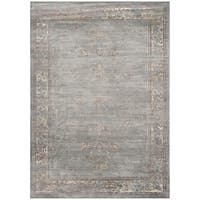Safavieh Vintage Oriental Grey Distressed Silky Viscose Rug (10' x 14')