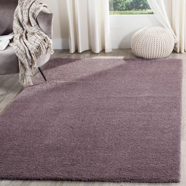 Safavieh Velvet Shag Violet Polyester Rug (8' x 10')