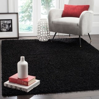 Safavieh California Cozy Plush Black Shag Rug 8 6 X 12