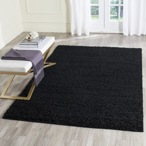 Safavieh Athens Shag Black Area Rug (9u0026#39; x 12u0026#39;) - Free Shipping Today - Overstock.com - 18656912