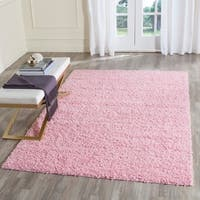 Safavieh Athens Shag Pink Area Rug - 8' x 10'