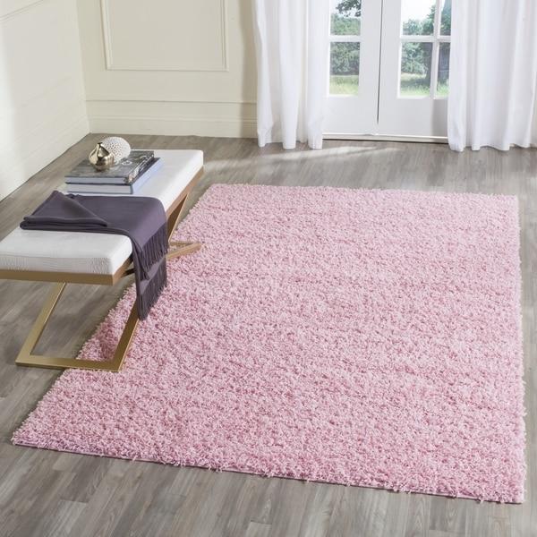 Safavieh Athens Shag Pink Area Rug (8' X 10')