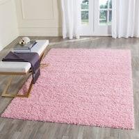 Safavieh Athens Shag Pink Area Rug - 9' x 12'