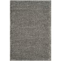 Safavieh Charlotte Shag Grey Plush Polyester Rug - 9' x 12'