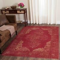 Safavieh Vintage Oriental Rose Distressed Silky Viscose Rug - 8'10 x 12'2