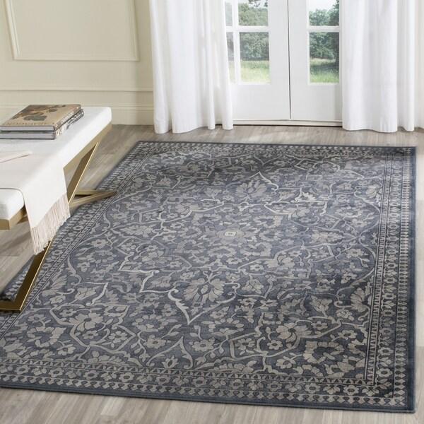 Safavieh Vintage Blue/ Light Grey Distressed Silky Viscose Rug (8' 10 x 12' 2)