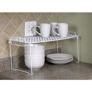 Home Basics Stackable Shelf in White