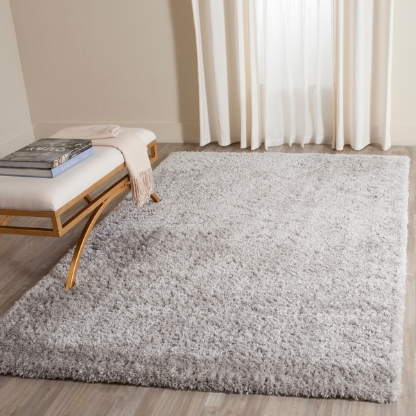 Shop Safavieh Indie Shag Grey Polyester Rug 8 X 10 On Sale Free Shipping Today
