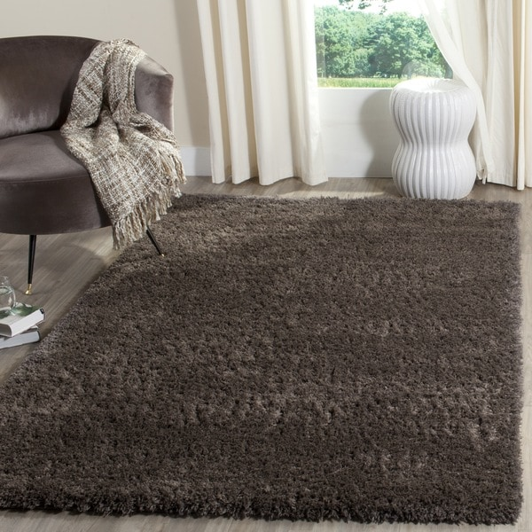 Safavieh Indie Shag Dark Grey Polyester Rug (9' x 12')