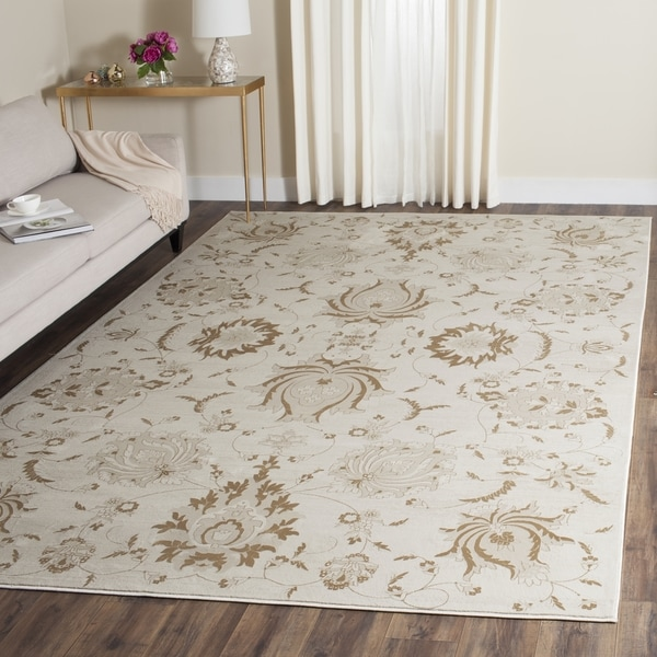 Safavieh Vintage Cream/ Camel Distressed Rug (9' x 12')