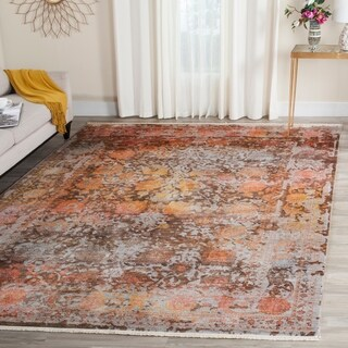 Safavieh Vintage Persian Brown/ Multi Distressed Rug (9' x 11' 7)