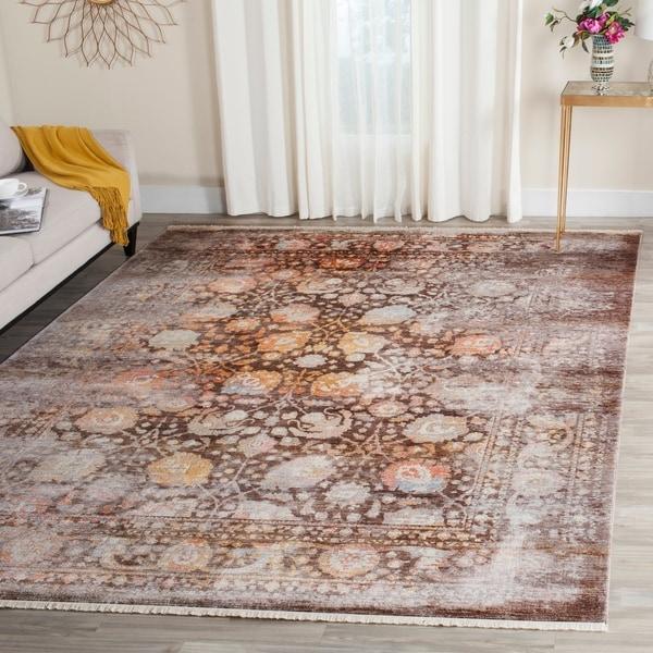 Safavieh Vintage Persian Brown/ Multi Distressed Silky Rug - 8' x 10'