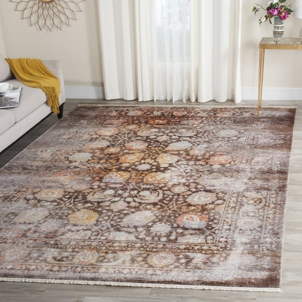 Safavieh Vintage Persian Brown/ Multi Distressed Silky Rug - 8' x 10'