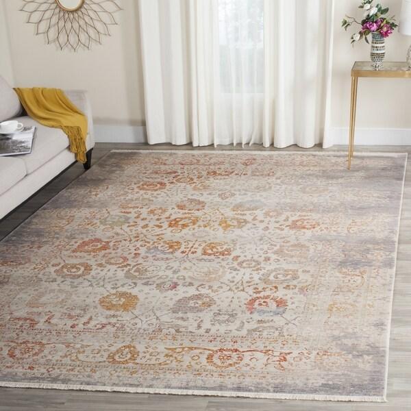 Safavieh Vintage Persian Grey/ Multi Distressed Silky Rug (8' x 10')