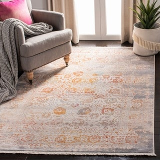 Safavieh Vintage Persian Grey/ Multi Distressed Silky Rug (9' x 11' 7)