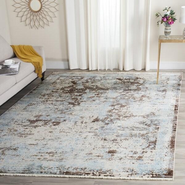 Safavieh Vintage Persian Brown/ Light Blue Distressed Rug (8' x 10')