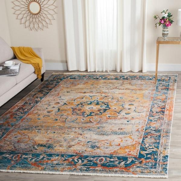 Safavieh Vintage Persian Blue/ Multi Distressed Rug - 9' x 11'7