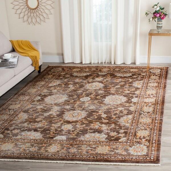 Safavieh Vintage Persian Brown/ Multi Distressed Rug - 9' x 11'7