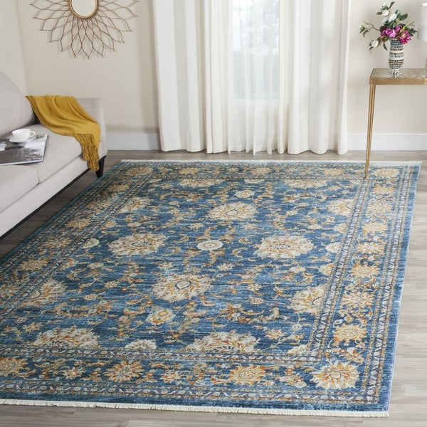 Safavieh Vintage Persian Turquoise/ Multi Distressed Silky Rug - 9' x 11'7