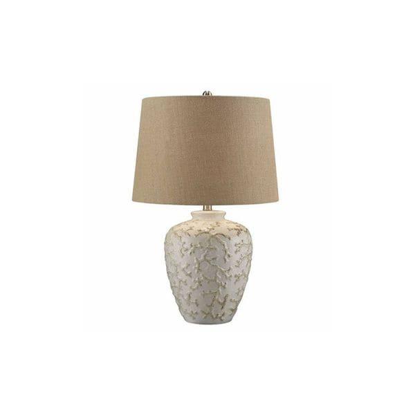 Crystal Gunmetal 32-inch Table Lamp
