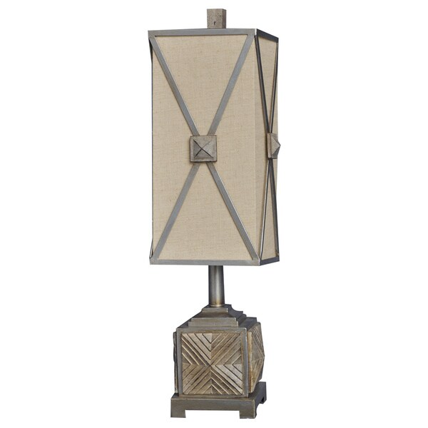 Sea Brook Tower Almond Silver 26.5-inch Table Lamp
