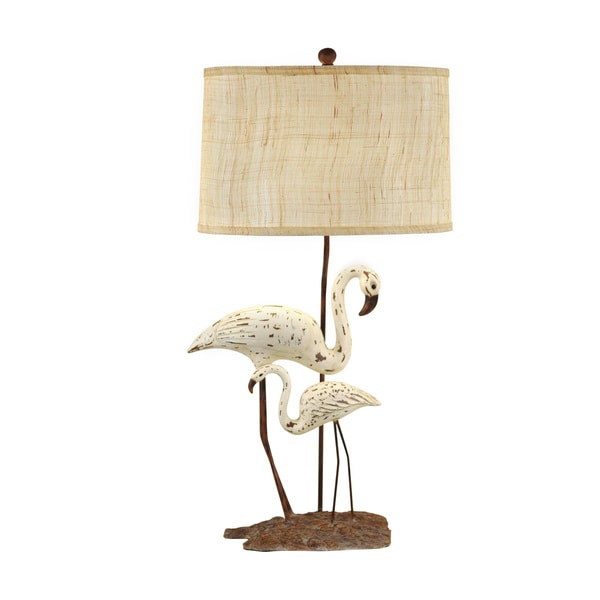 Shoreline Distressed White and Grey 32.25-inch Accent Lamp