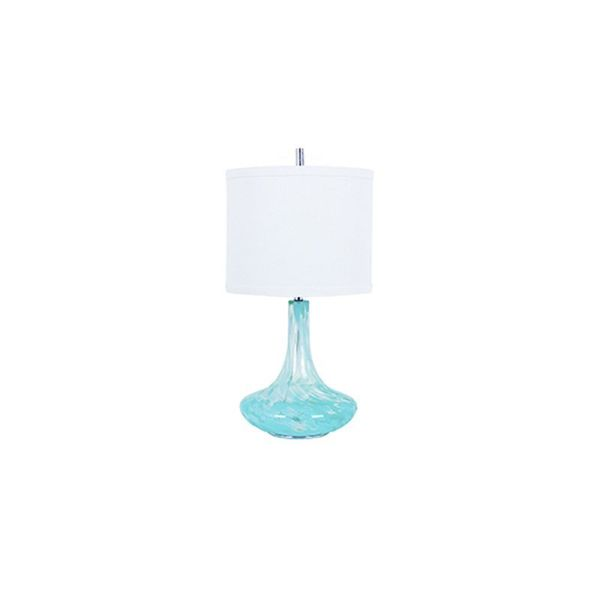 Crestview Collection 32-inch Light Blue Table Lamp
