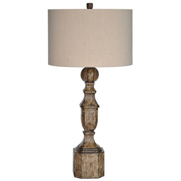 Arbors Collum Antique Painted Wood 36-inch Table Lamp