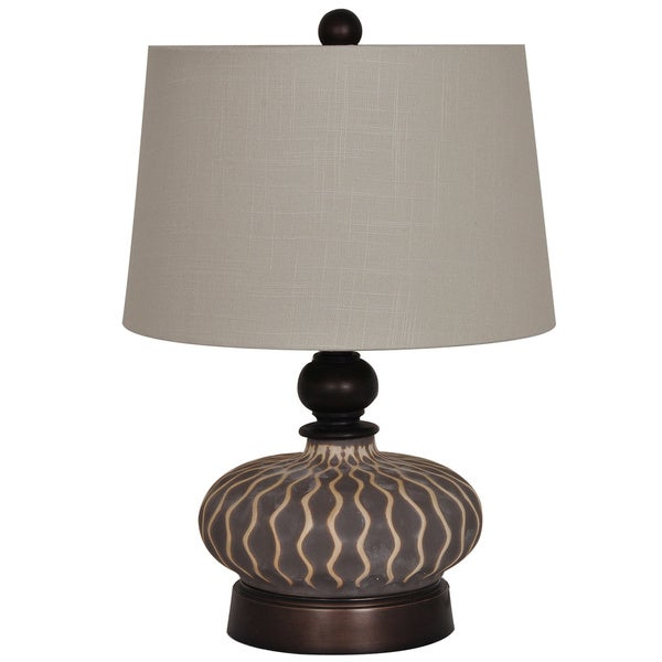 Providence Grey 21-inch Table Lamp