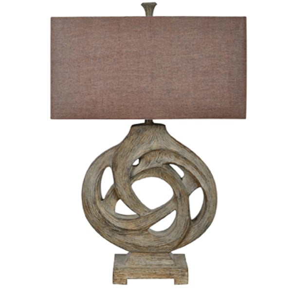 Coiled Branch Antique Wood 32-inch Table Lamp